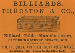 Advertisement for Thurston and Co
