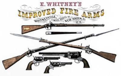 Advertisement for Whitney's Improved Firearms, 1800s