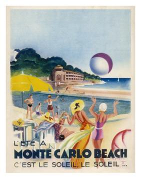 Advertisement Promoting Monte Carlo Beach