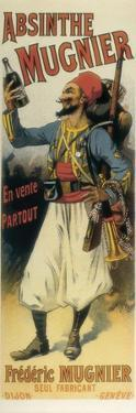 Advertisement Sign for Absinthe 'Mugnier', 1895