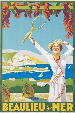 Advertising Poster for Beaulieu-Sur-Mer, C.1925