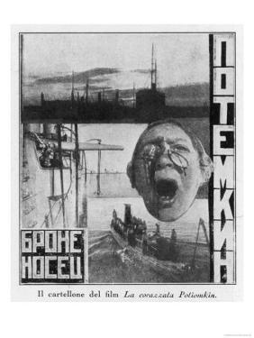 Advertising Poster for Sergei Eisensteins 1925 Film Battleship Potemkin