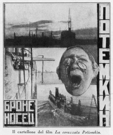 Advertising Poster for Sergei Eisensteins 1925 Film Battleship Potemkin