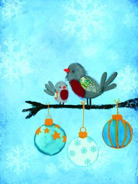 Birds With Ornaments by Advocate Art