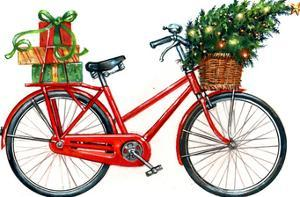 Christmas Bicycle by Advocate Art