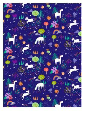 Christmas Unicorn by Advocate Art