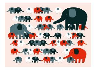Elephants by Advocate Art