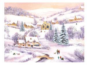 Family Winter Scene by Advocate Art