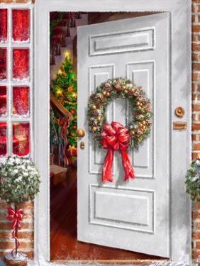 Home Holiday Entrance by Advocate Art