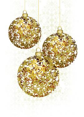 Lace Golden Ornaments by Advocate Art