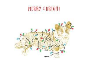 Merry And Bright Dog by Advocate Art