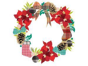 Plaid Wreath by Advocate Art