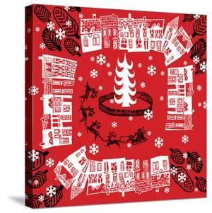 Red Holiday Pattern by Advocate Art