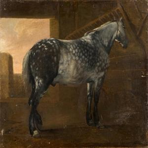 A Dapple Grey Horse by Aelbert Cuyp