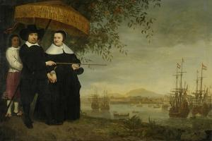 A Senior Merchant of the Dutch East India Company Jacob Mathieusen and His Wife, C.1640-60 by Aelbert Cuyp