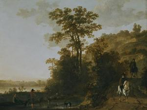 An Evening Ride Near a River by Aelbert Cuyp