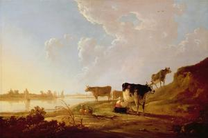 Cows Near a River by Aelbert Cuyp