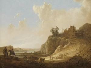 Hilly Landscape with the Ruins of a Castle by Aelbert Cuyp