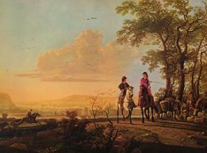 'Horsemen and Herdsmen with Cattle', 1655-1660 by Aelbert Cuyp