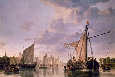 The Maas at Dordrecht, 1680 by Aelbert Cuyp