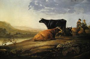 Young Herdsmen with Cows by Aelbert Cuyp