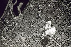 Aerial Bombing of Barcelona by Franco's Nationalist Air Force, Spain, 17th March 1938