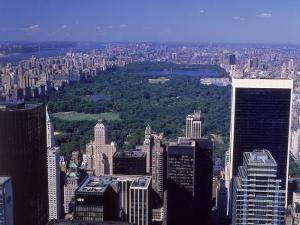 Aerial of Central Park and Buildings, NYC