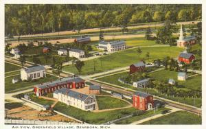 Aerial View, Greenfield Village, Dearborn, Michigan
