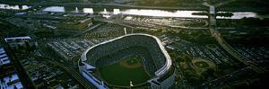 Aerial view of a baseball stadium, Yankee Stadium, New York City, New York State, USA