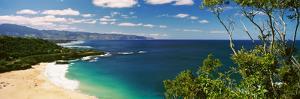 Aerial View of a Beach, North Shore, Waimea Bay, Oahu, Hawaii, USA