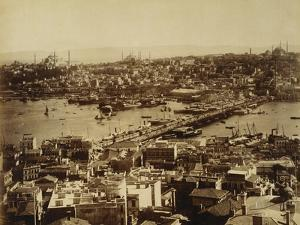 Aerial View of a Bridge over the Bosporus in Istanbul