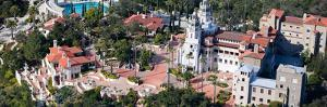 Aerial View of a Castle on a Hill, Hearst Castle, San Simeon, San Luis Obispo County, California...