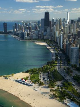 Aerial View of a City, Lake Michigan, Chicago, Cook County, Illinois, USA 2010
