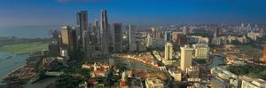 Aerial view of a city, Singapore City, Singapore