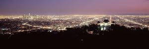 Aerial View of a Cityscape, Griffith Park Observatory, Los Angeles, California, USA 2010