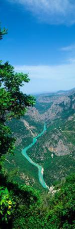 Aerial View of a River, Verdon Gorge, Alpes-De-Haute-Provence, Provence-Alpes-Cote D'Azur, France