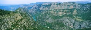 Aerial View of a Valley, Verdon Gorge, Provence-Alpes-Cote D'Azur, France