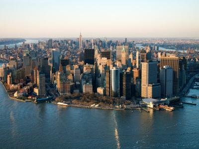 Aerial View of Buildings and High Rises in New York City, New York