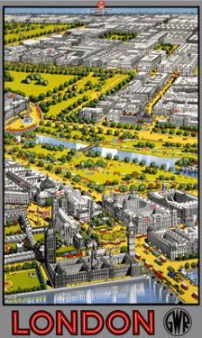 Aerial View of Central London, GWR, 1936