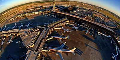 Aerial view of Chicago O'Hare International Airport, Chicago, Illinois, USA