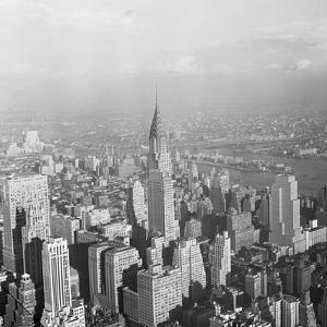Aerial View of Chrysler Building in New York City