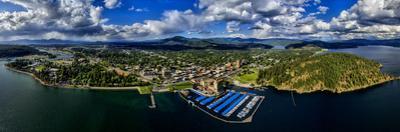 Aerial view of Coeur d'Alene, Kootenai County, Idaho, USA