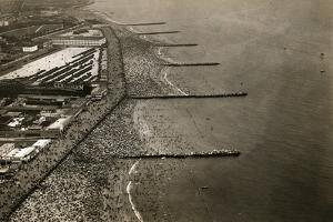 Aerial View of Coney Island Beach on the Fourth of July