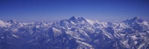 Aerial View of Himalayas, Kathmandu, Nepal
