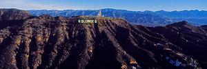Aerial view of Hollywood Sign, Los Angeles, California, USA