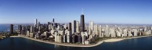 Aerial View of Lake Michigan, Lake Shore Drive, Chicago, Illinois, USA
