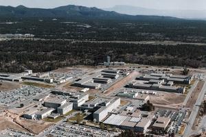 Aerial View of Los Alamos Scientific Laboratory