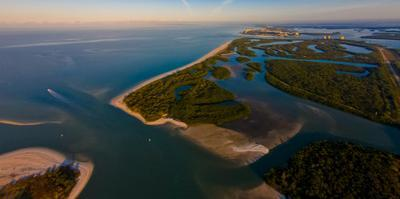 Aerial view of Lovers Key State Park, Florida, USA