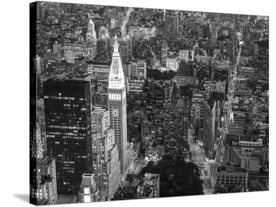 Aerial view of Manhattan, NYC-Michel Setboun-Stretched Canvas Print