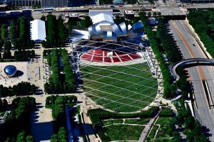 Aerial view of Millennium Park, Chicago, Illinois, USA